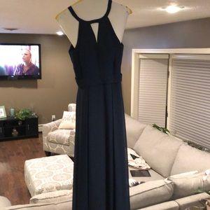 Dresses & Skirts - Navy blue full length dress